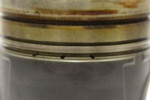 Deposits on Piston Ring